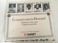 1990 Target Dodgers 100th anniversary baseball cards Jackie Robinson pack EX