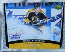 1998-99 UD Starting Lineup Sergei Samsonov Boston Bruins Hockey Card