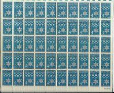 VIII Olympic Winter Games Flag full Sheet of 50 x 4 cents, Scott #1146