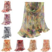 2019 Fashion Stylish Women Long Soft Silk Chiffon Scarf Wrap Shawl Scarves New