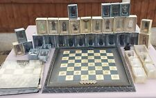 More details for eaglemoss lord of the rings chess set 1, 37 figs,board,37 magazines & 1 binder!!