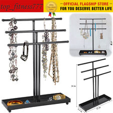 Jewelry Display Rack Earrings Necklace Organizer Hanging Holder Hook Stand