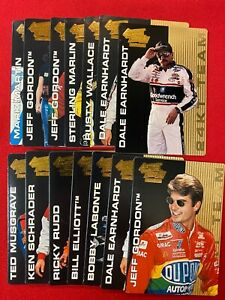 1995 Action Packed 24K Gold Winston Cup Country Earnhardt + Gordon 14 card set