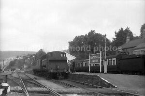Pontsticill Junction Station 0-6-0PT 9675 11.9.51 Railway Negative RN110