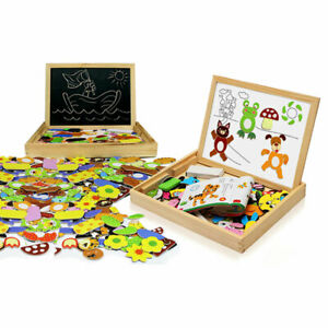 Doodle Children's Wooden Multifunctional Puzzle Magnetic Board With Eraser