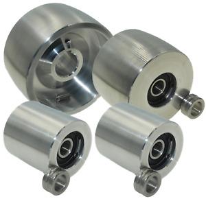 """Belt Grinder wheel set knife grinder 4"""" Drive-24 mm shaft, 3"""" tracking, 2"""" Idler"""