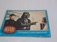 1977 Topps Star Wars #10 Princess Leia captured!