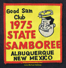 LMH Patch  1975 GOOD SAM CLUB  State SAMBOREE Rally  Albuquerque NM  Star Halo