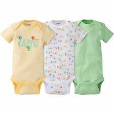 NEW Gerber Baby Girl or Boy Cute Onesie Bodysuit 3 Pack Size Newborn Unisex
