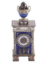 Austrian enameled-silver musical desk clock Lot 56