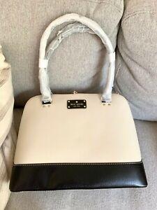 KATE SPADE Rachelle Berkeley Lane Tote handbag WKRU1739 BLACK Cream Zip Rust