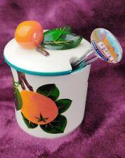 Griselda Hill Wemyss Scottish Pottery Jam Orange Marmalade Covered Pot & Spoon
