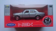 WELLY MERCEDES-BENZ W123 E-CLASS SILVER 1:34 DIE CAST METAL MODEL NEW IN BOX