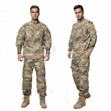 &Men Tactical Army Military Combat Camo Camouflage Jacket+Trousers Uniform Set&