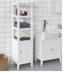 SoBuy Bathroom Shelf White