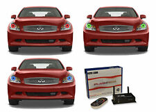 for Infiniti G35 07-09 RGB Multi Color WIFI LED Halo kit for Headlights