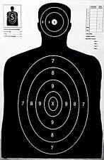 Shooting Targets Black Silhouette Gun Pistol Rifle Range B-27 Qty:25 23x35