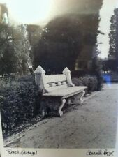 """Framed Connie Begg Black & White Paris Photography """"Bench, Portugal"""" 13""""x16"""""""