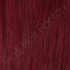 100 pré-collé Bâton Tip 1 Gram Remy Extensions Cheveux Cerise Rouge Longueur