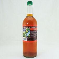 Vintage Aceto Di Sidro Di Mele con la madre 1 Litro Bottiglia In Vetro Puro