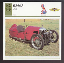 1920-1933 Morgan Aero 3-Wheel British Car Photo Spec Sheet Info CARD 1921 1922
