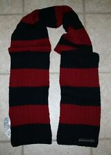 NWT Abercrombie Boys One Size Navy Red Knit Scarf