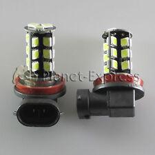 2 x Bombillas 27 LED SMD H8 CANBUS antiniebla Coche DRL Bombilla Blanco Xenon
