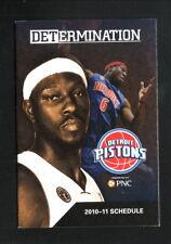 Ben Wallace--Detroit Pistons--2010-11 Pocket Schedule--PNC Bank