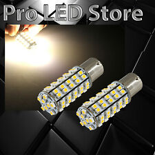 1156 BA15S RV Trailer Interior LED Lights Bulbs 68 SMD Warm White