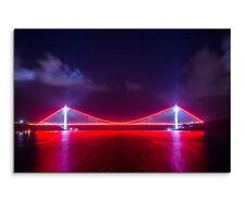 Wandbild Urbane Fotografie Leuchtende Yavuz-Sultan-Selim-Brücke Türkei Leinwand