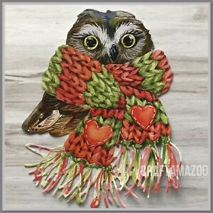4 Cosy Christmas Owl Die Cuts, 506968, Autumn Woodland, Tattered Lace Nancy