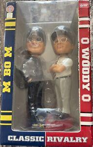 Ohio State vs Univ of Michigan Bobblehead Rare Classic Rivalry Woody vs Bo NIB *
