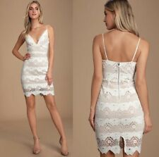 Lulus White Lace Crochet Dress Women's Size XS