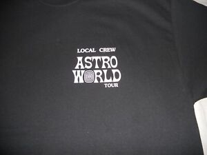 * NEW *  Travis Scott Astro World 2018 Tour Local Crew T shirt  XL