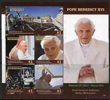 MICRONESIA 2015 POPE BENEDICT XVI RETIREMENT  SHEET MINT NH