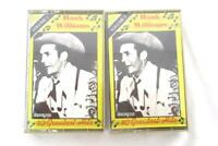 Lot of 2 Hank Williams 40 Greatest Hits Vol 1 and 2 Cassette Tape Vtg Country