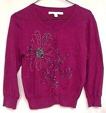 L C Lauren Conrad Cardigan Sweater Embellished Lightweight Women's Size Small