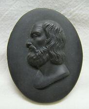 WEDGWOOD Black Basalt Oval Gentleman Portrait Medallion ca Pre-Late 1800s
