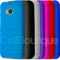 Soft Slim TPU Silicone Case Cover For HTC ONE M7 M8 Screen Protector