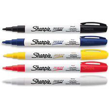 Sharpie Oil-Based Paint Markers, Fine Point, Assorted, Pack of 5 (37371)