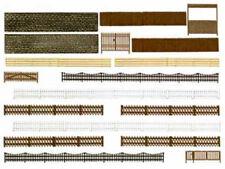 Busch 6017 Zäune Mauern und Tore 200 cm H0 Bausatz Neu Zaun Mauer Tor