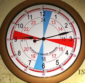 Radio Room Wall Clock, Ships Coastal Operations Radio Room Wall Clock.