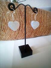 Opalite Heart Shaped Earrings