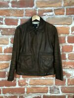 Brooks Brothers XS/S Slim Leather 40s RRL Motorcycle Military A-1 Bomber Jacket