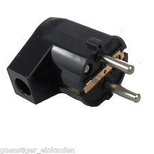 AS Schwabe Schuko-Stecker /Kupplung weiß schwarz IP20 Stromstecker Winkelstecker