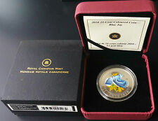 2010 25-cent Blue Jay Coin - Coloured with Case & COA - Royal Canadian Mint