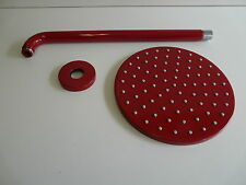 Douche de pluie rouge 3003, douche, wandzulauf, pomme téléscopique, 200mm