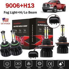 H13 9006 Cree Led Headlights Hilo Beam Fog Lamp For Dodge Ram1500 2500 Us New