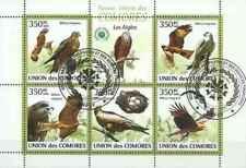 Timbres Oiseaux Rapaces Comores 1696/1700 o année 2009 lot 23368 -cote : 12,50 €