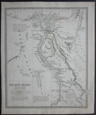1831 ANCIENT EGYPT original map S.D.U.K antico Egitto مصر‎ Égypte Ägypten Egipto